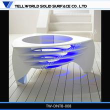 superior de cristal de piedra de la tabla base mobiliariodesala