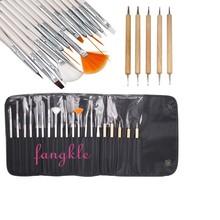 20pcs nail dotting pen paint brush kit