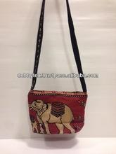Thailand elephant cotton fabric cross body bag