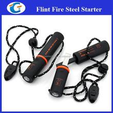 Outdoor survival magnesium flint and steel fire starters