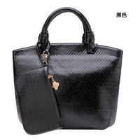 wholesale alibaba Retro style luxy black wool felt bag with any color