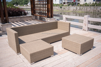Large capacity loading outdoor furniture rattan wicker sofa outdoor furniture victory garden