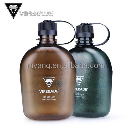 Plastic esporte garrafa de água atacado exército cantina / 1L fosco plástico garrafa de água Tritan militar garrafa de água de plástico BPA livre