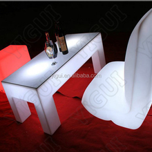 plastic material bar table with wheels with RGB for club