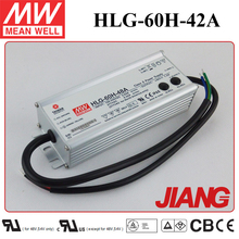 60W 42V 1.45A Single Output Power Supply Meanwell HLG-60H-42A IP65 Waterproof LED Driver