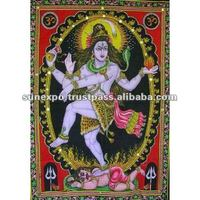 Beautiful SHIVA NATRAJ Yoga BATIK 30 X 43 Inches