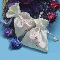 Luxury Satin Drawstring Small Bag For Gift Package