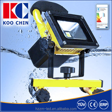 10w 50w Battery Powered LED Rechargeable Portable Floodlights