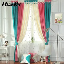 multicolour ployester curtain fabric for baby room decoration