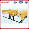 Wholesale MDF furniture with metal frame student desk and chair