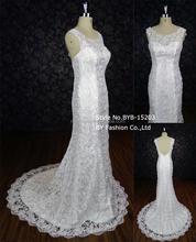 2016 mermaid wedding dress sweet heart sleeveless backless applique lace import wedding dress BYB-15203