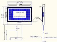 128x64 dot matrix graphic lcd display transparent lcd display transparent lcd screen