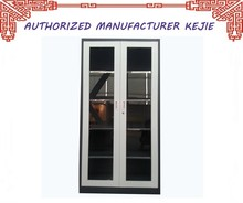 Japan Best Selling Steel File Cabinet Open Shelf Cabinet with Glass Doors and 5 shelves