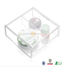 wholesale plastic small acrylic cosmetic storage containers