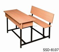 New Design Modern School Furniture / Double School Desk and Chair