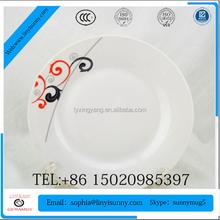 Rouge fleur en céramique plaques, Personnalisé imprimé maroc plaque de céramique, Plaques en céramique fabricants