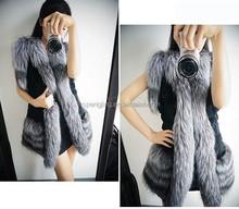 Excellent! 2015 Winter Fur Vest Women Faux Fur Sleeveless Lapel Outerwear Waistcoat B7 CB030655