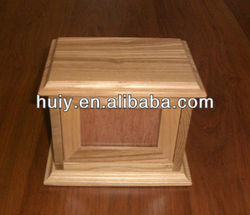 wooden pet casket for ashes