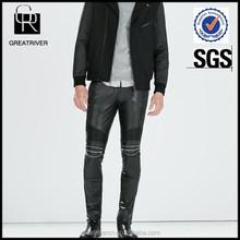 2015 fashion mens motorbike leather pants