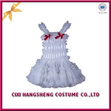 Latest design soft tulle one piece girls party dresses