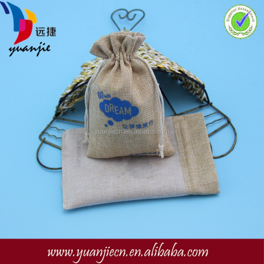 Alibaba China small draw string custom red logo jute bag