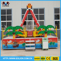 2014 small beach and popular kids pirate ship playground for sale