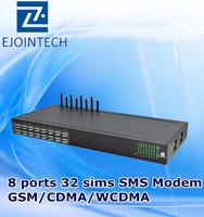 goip 8 gsm/cdma/wcdma modem bulk modem sms gateway