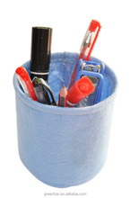 Export stationery on table pens storing felt fabric pot
