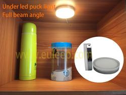 180 degree wide beam angle moonlight led puck light, under led cabinet downlight kit