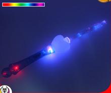 LED fiber optic light up wand for Christmas