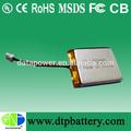 De alta energía recargable 3.7v 600 mah li- polímero de la batería
