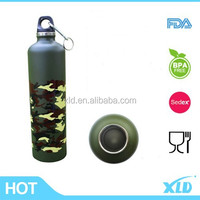 outdoor titanium camping stainless steel water bottle sport bottle