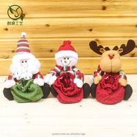 santa snowman reindeer shape candy bag christmas,table decoration chrismas candy bag