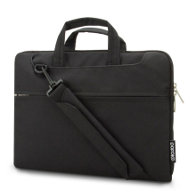 classical black color high quality waterproof and durable nylon men's laptop bag