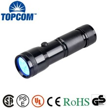 Perfect design blacklight inspection uv 14 led flashlight