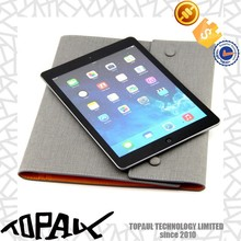 New style slim pu material cover handle bags with card cover case for ipad air