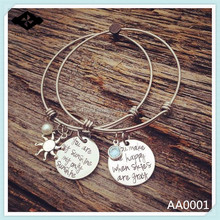 2015 new design Riven Star bracelet you are my sunshine trendy fashion bangle bracelets