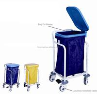 hospital soiled linen trolley