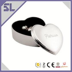 Engraved Jewellery Boxes Heart Shape Personalised Gifts Customized Jewelry Boxes