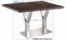 Cafe table leg base, wrought iron coffee table base, wood table with metal base