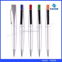 2015 new advertising ball pen plastic pen with metal clip