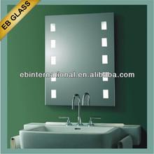LED Bathroom Mirror with dot lights,led backlit glass bathroom mirror