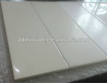 azulejos de pared del color crema blanco brillante 10x30cm 4*12""