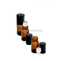 Empty 5ml Amber Glass Micro Mini Rollon Dram Glass Bottles with Metal Roller Balls