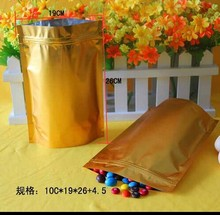 Accept Custom Order gold color resealable foil bag