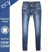 Color Fade Proof Women In Tight Blue Jeans
