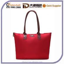 Leather Handle Travel Handbag Nylon Women Dumpling Handbags Folding Shopping Shoulder bag