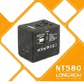 Sudáfrica adaptador de enchufe/tres pines multi enchufe eléctrico& toma de corriente universal( nt580)