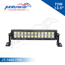 2015 12V/24V Double stack curved 72W 5040LM 13.5inch car roof top light bar side bar for SUV JT-1400 bumper bar for security car
