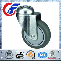 High quality 100 mm wheel with steel fork industrial castor